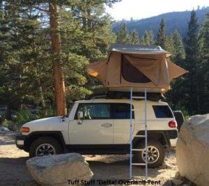 Tuff Stuff 'Delta' Overland Rooftop Tent on FJ Cruiser