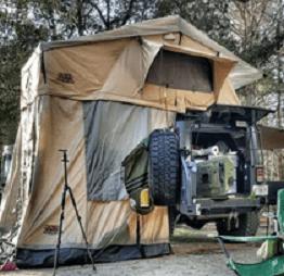 Tuff Stuff Ranger Overland Rooftop Tent on FJ Cruiser