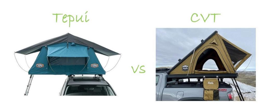 Tepui versus CVT roof top tents